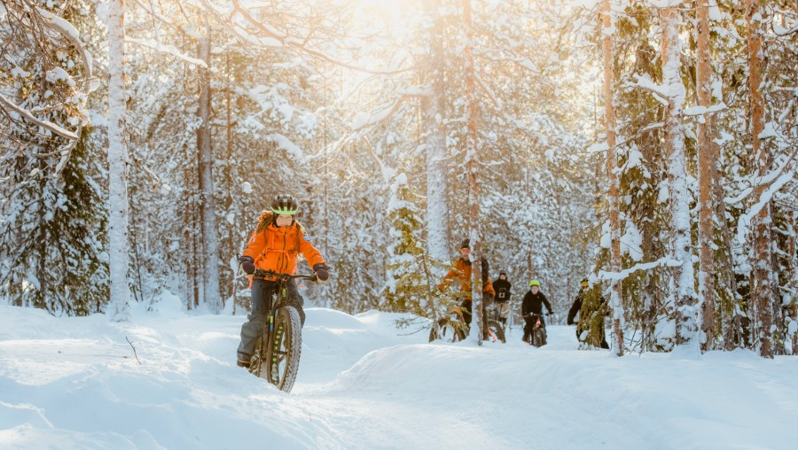 picture of fatbiking Lapland Travel Äkäslompolo